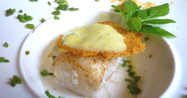 Cabillaud sauce au ch vre espuma d 39 agrumes et pousses d for X uv cuisine